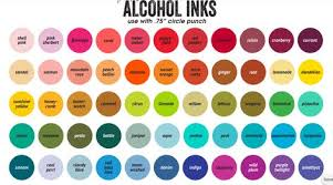 Tim Holtz Alcohol Ink Color Chart Download And Print The 2018 Alcohol Ink Color Chart Ink
