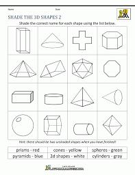 2d And 3d Shapes Worksheet - Checks Worksheet