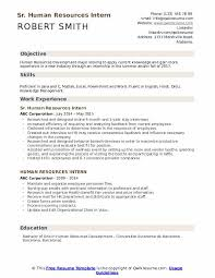 Summer Internship Resume Human Resources Intern Resume Samples Qwikresume