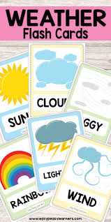 Weather Chart Free Printable Free Printable Weather Flash Cards Must Do Crafts And