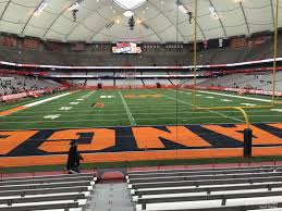 Syracuse Football Dome Seating Chart Carrier Dome Section 124 Syracuse Football Rateyourseats Com