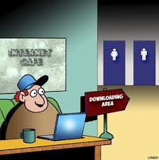 Funny Tecshnology Downloading Area Cartoon By Toons On
