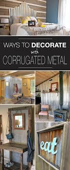corrugated metal decor ideas