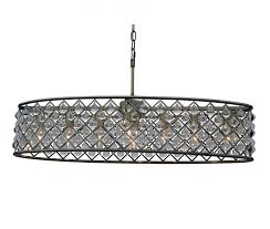 cassiel 30 inch oval crystal chandelier antique brass