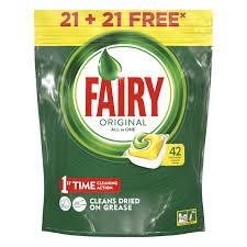 <b>капсулы д/ПММ FAIRY Original</b> All in One Лимон 21+21 шт. | www ...