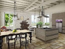 Kitchen With Slate Floor Traditional French Country Kitchen With Slate Floor And Shabby