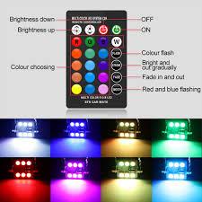 Multi Color Changing Led Lights De3175 De3022 6428 3175 Led Bulb 31mm Festoon Bulbs Rgb With Remote Control 16 Colors Change Led Car Interior Light Dome Map Courtesy Lamps License