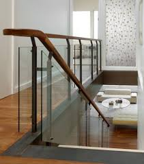 Modern Handrail Designs That Make The Staircase Stand Out. Glass With  Wooden Handrail