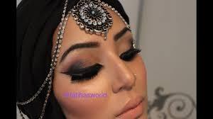 arabic eyes makeup tutorial easy to follow soft smokey ماكياج العربي