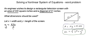 solving a nar system of 2 equations word problem ex 01