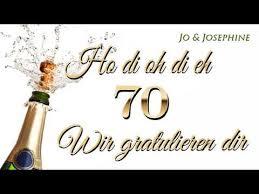 Geburtstagslied Wir Gratulieren Dir Glückwünsche Zum 70