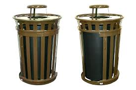 patio trash cans decorative outdoor metal designs garbage wicker