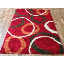 red and brown area rug red contemporary circles gy area rug unique brown orange ivory white circles multi pattern abstract tribeca abstract brown