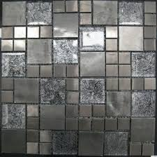 stone mixed crystal glass mosaic tile stainless steel matt mosaic wall tiles images