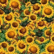 Fat Quarter Time to Harvest Sunflower and Blackbirds Cotton ... & Fat Quarter Time to Harvest Sunflower and Blackbirds Cotton Quilting Fabric Adamdwight.com