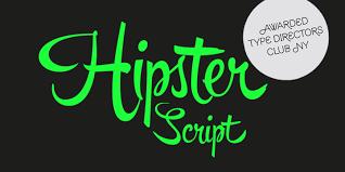 Hipster Script Font Kreativ Font