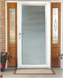 in x primed white fiberglass left hand mini french doors with blinds inside roman