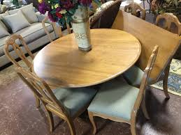 ethan allen cherry 54 round dining table 1