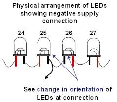diy christmas lights modify convert a 120vac set of led Christmas Lights In Series Wiring energise lights and counting from first led, divide string into groups of 5 leds and attach a label to first led and to last led in series group, christmas light series wiring diagram