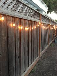shed lighting ideas. Side Yard Lighting Idea: String Lights On Fence. Shed Ideas S