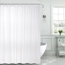 qoo10 beatrice home fashions 8 gauge shower curtain liner white household bedding
