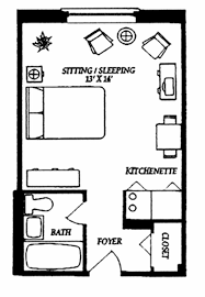 Small One Bedroom Apartment Floor Plans Super Simple Studio Floor Plan Ideas Pinterest Kitchenettes