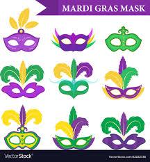 Mardi Gras Designs Mardi Gras Mask Set Design Element Flat Style