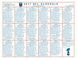 Printable Schedules Nfl Download Them Or Print