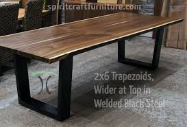 custom made 2 x 6 steel tzoid legs wider at the top painted black