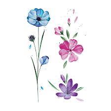 временные тату украина весенние цветы цветные