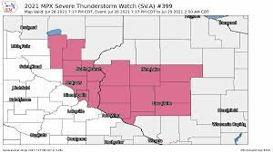 Severe thunderstorm watch includes ...