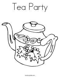 Tea Party Coloring Page Twisty Noodle Tea Party Tea Tea Party