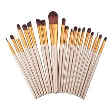 best professional makeup brush set. twenty pcs best professional makeup brushes set gold coffee brush a