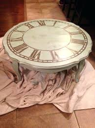 coffee table with clock old coffee table made into a shabby chic table with a distressed
