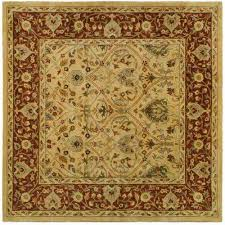 persian legend ivory rust 6 ft x 6 ft square area rug