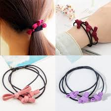 south korea fashion multi layer leather band tie knot hair band hair band rubber band rope rope 2 yuan jewelry whole
