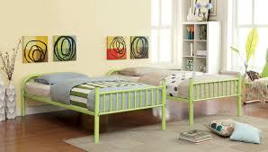 Red Apple Bedroom Furniture Gilbert Metal Twin Bunk Bed Red Purple Green Black Orange