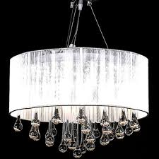 gorgeous chandelier ceiling light with 85 diffe crystals and 3 lamps white