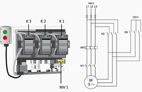 comparision of dol and star delta motor starting line diagram for star delta motor starter