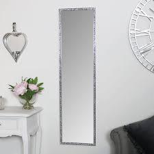 tall slim jewelled framed mirror