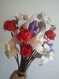 Paper Origami Flower Bouquet Origami Flower Bouquet I Love You Everlast Origami Flowers Bouquet