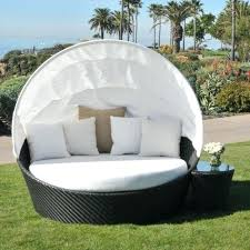 outdoor patio furniture day bed weather wicker daybed set with canopy com chair cushions