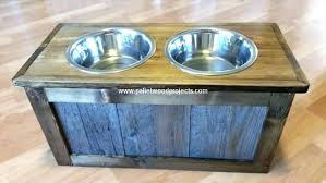 diy raised dog feeder bowl holder elevated with storage industrial build diy raised dog feeder
