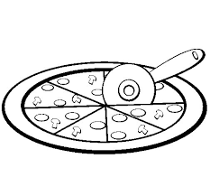 Small Picture Pizza coloring page Coloringcrewcom