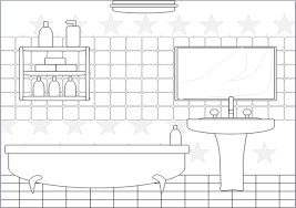 bathroom clipart black and white. Brilliant Bathroom Bathroom Clipart Black And White  Fittedkitchendesign To Pinterest