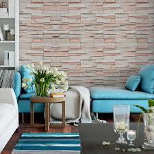 O uso da pedra para revestimento de paredes vem sendo muito utilizado para ambientes com um estilo rústico, mas diferenciado. Papel De Parede Adesivo Pedras Canjiquinha Branca Com Bege Eucolo
