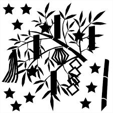 ウォールステッカー 七夕 たなばた 笹 飾り 短冊 飾り 星 天の川 竹 織姫 彦星 3030cm シール式 装飾 おしゃれ
