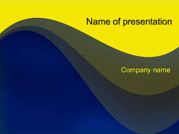 Powerpoint Backgrounds Yellow Download Free Yellow Blue Mix Powerpoint Template For