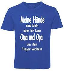 Kinder Sprüche T Shirt Oma Und Opa Blau