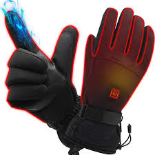 Unisex Rechargeable Battery Heated Gloves <b>Winter Electric Heating</b> ...